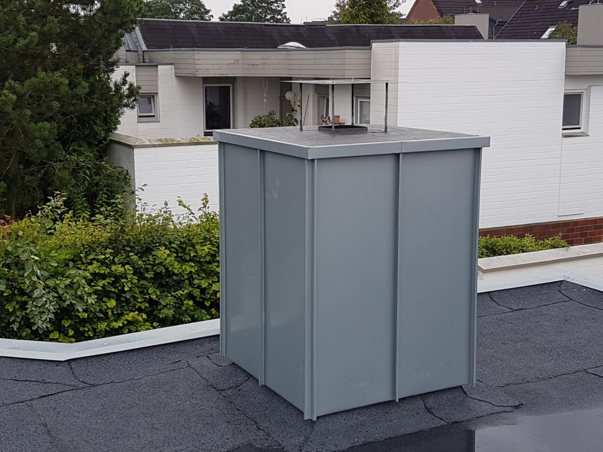 Schornsteinverkleidung aus Rheinzink - Dachdeckerei Dubberstein Probsteierhagen / Kiel