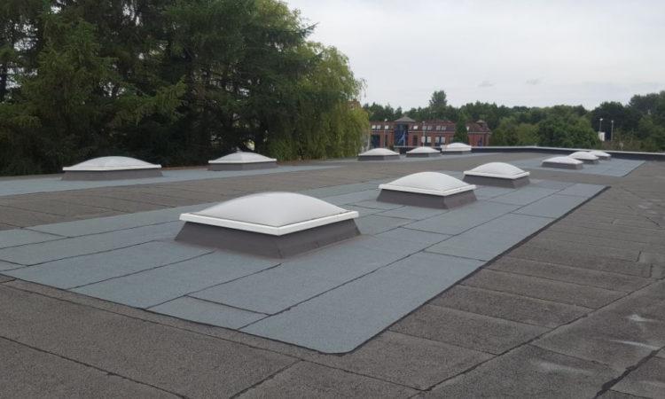 Flachdachabdichtung Und Neue Lichtkuppeln - Dachdeckerei Dubberstein